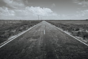 Deserted long road
